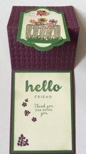 z fold card for spring
