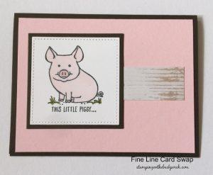 cute pig card