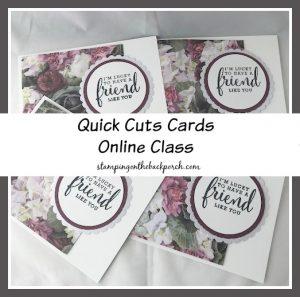 Quick Cuts Online Class with Karen