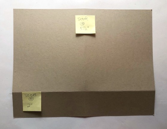 step by step instructions to make a card folder