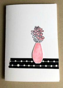 simply stamped vase card