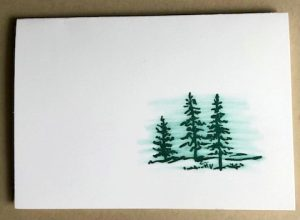 quick & easy masculine card with watercolor technique