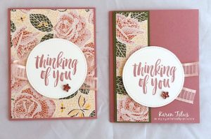 quick & easy Stampin' Up! cards