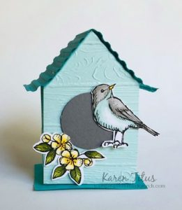 Stampin up bird house candy box - 46