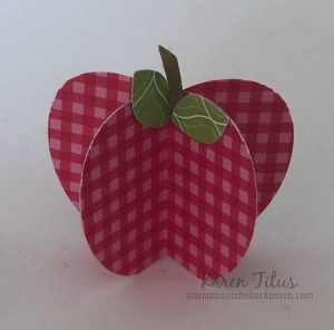 3d paper apple with punches