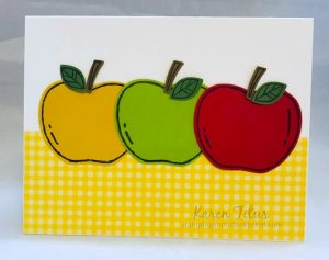 easy card with Apple Builder Punch