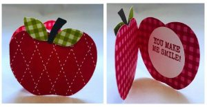 gift tag or note using apple punch