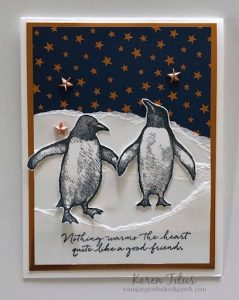 penguin cards handmade