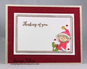 #Elfie holiday card stampin up