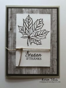rustic leaf card