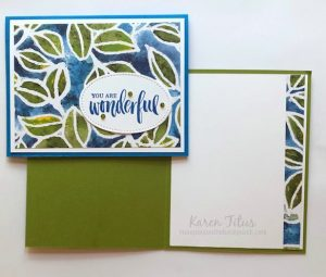 inside of stampin up cards