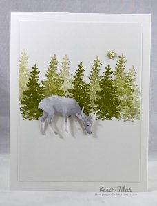 deer in the woods card