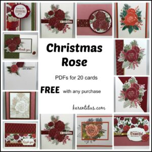 20 Cards with Christmas Rose