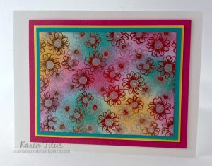 sponging with designers series paper