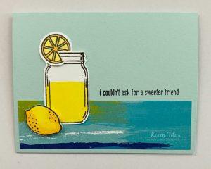 lemonade card with Jar of Flowers