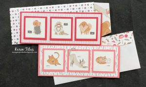 Slimline Cards with Pampered Pets