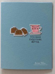 easy coffee & chocolate card