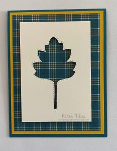 stitched leaves dies stampin up