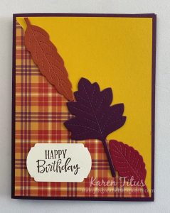 Love of Leaves Bundle Stampin Up