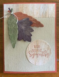 Leaves Card with Shimmer Paint
