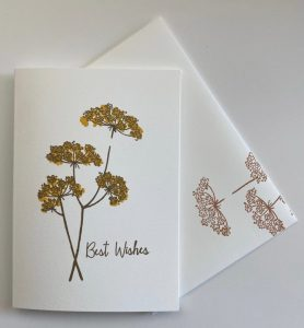 simple card with Queen Anne's Lace