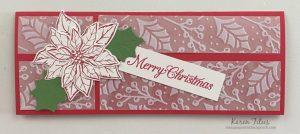 poinsettia card for christmas