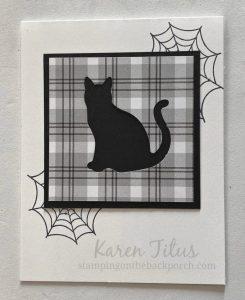 Cat Punch Halloween Card