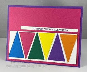 stitched triangle dies stampin up