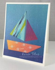 sailboat quilt card