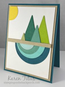 stitched triangles card ideas