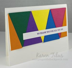 stitched triangle card