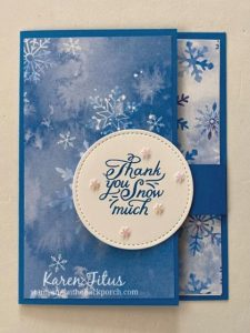 snow splendor flap card