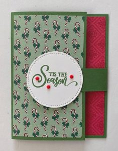 fast christmas card fun fold