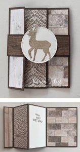 reindeer fun fold card stampin up