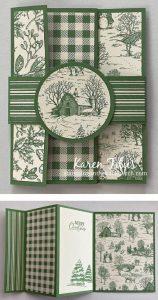 Christmas fun fold accordian card