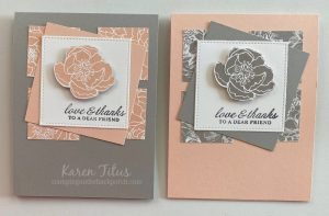 prized peony bundle cards stampin up