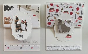 cat cards with pampered pets