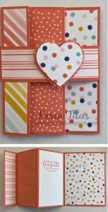 Heart Punch Accordian Fold Card