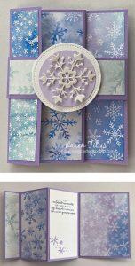 snowflake splendor trifold card
