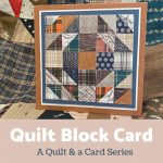 quilt card inspired by a quilt