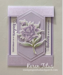 flowering blooms fun fold card