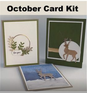 reindeer cards stampin up