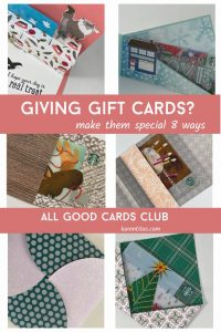 All Good Cards Club Gift Card Holders Class