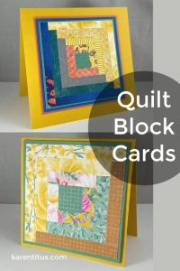 log cabin quilt block cards