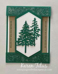 in the pines fun fold card