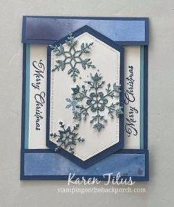 snowflake wishes fun fold card