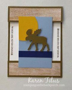 moose punch fun fold card