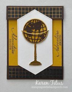 beautiful world fun fold card
