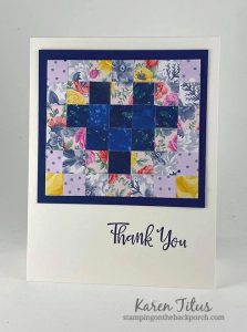 Quilt Card of Many Tiny Squares