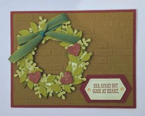 arrange a wreath bundle stampin up